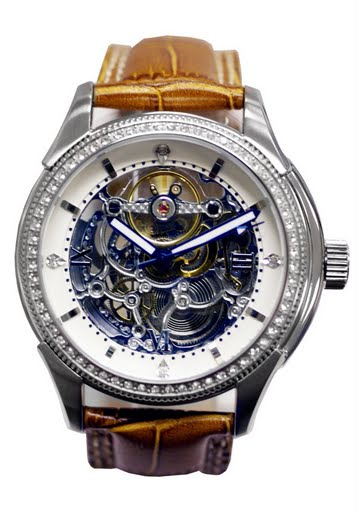 Lenzburg™ Swiss Design Skeleton Automatic Watch